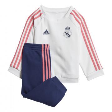 Ensemble survêtement bébé Real Madrid blanc bleu 2020/21