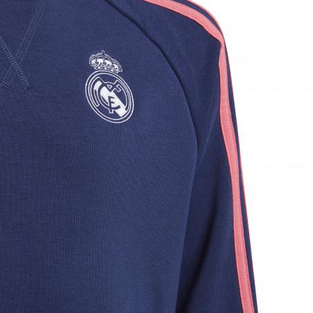 Sweat junior Real Madrid bleu rose 2020/21