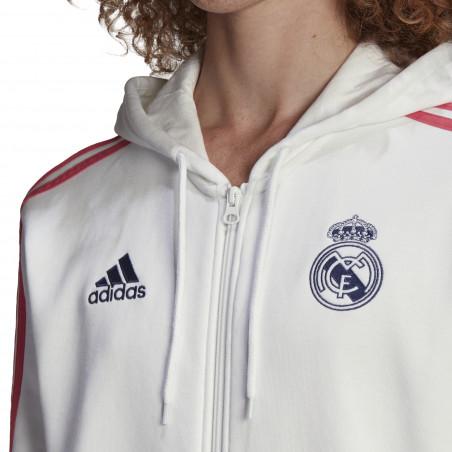 Veste survêtement Real Madrid FZ blanc rose 2020/21