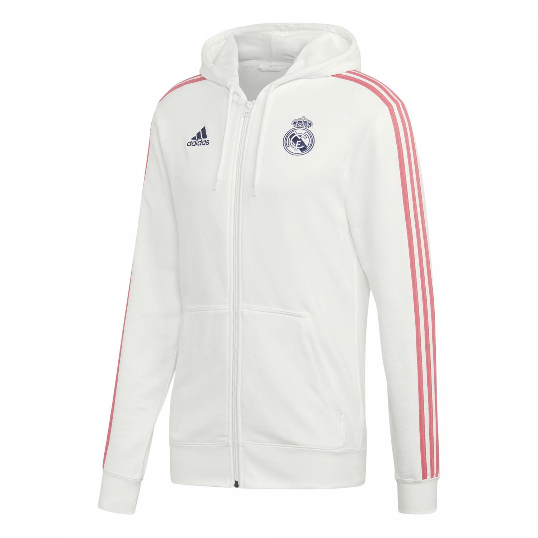 Veste survêtement Real Madrid FZ blanc rose 202021