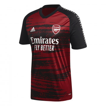 Maillot avant match Arsenal noir rouge 2020/21