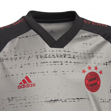 Maillot avant match junior Bayern Munich gris 2020/21