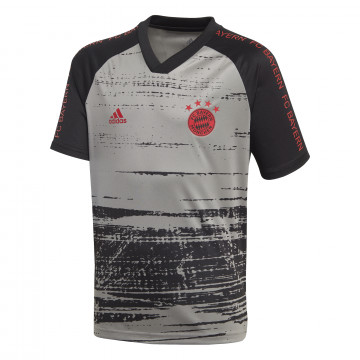 Maillot avant match junior Bayern Munich gris 2020/21