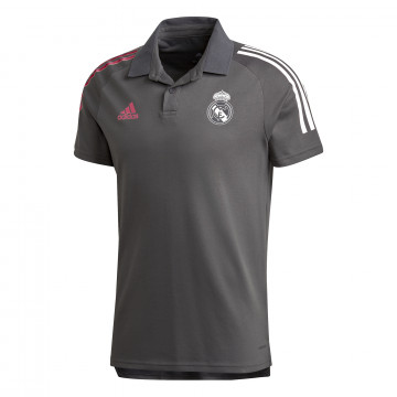 Polo Real Madrid gris rose 2020/21