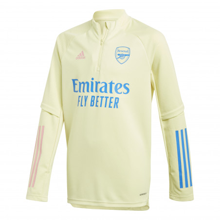 Sweat zippé junior Arsenal jaune 2020/21