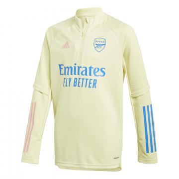 Sweat zippé junior Arsenal jaune 2020/21