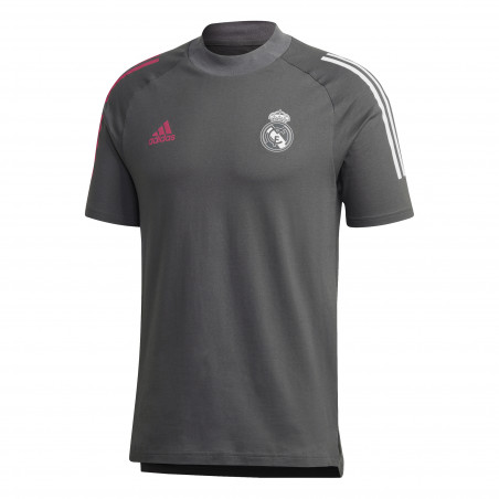T-shirt Real Madrid gris rose 2020/21