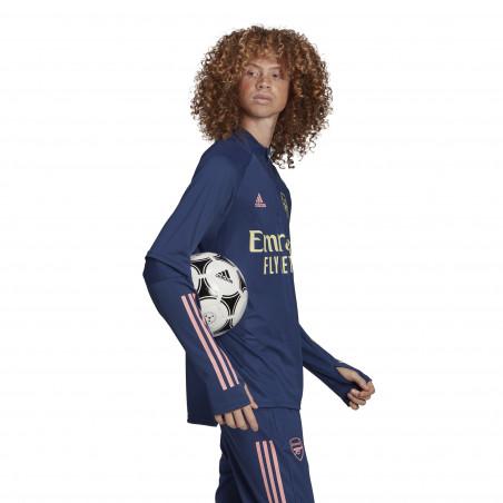 Sweat zippé Arsenal bleu 2020/21