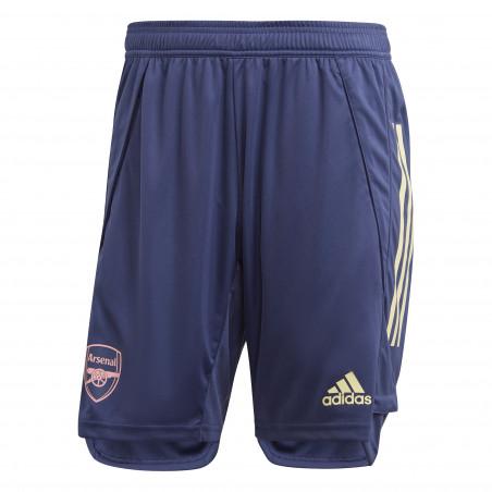 Short entraînement Arsenal bleu 2020/21