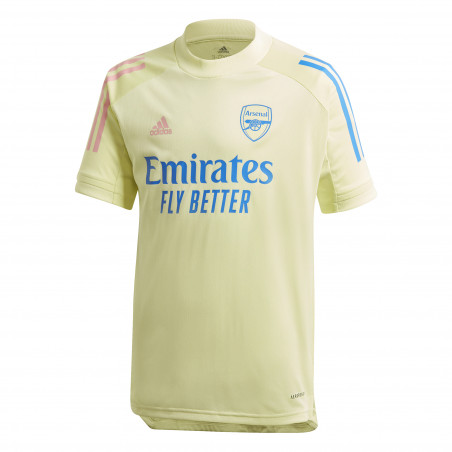 Maillot entraînement junior Arsenal jaune 2020/21