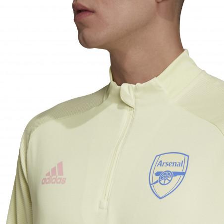 Sweat zippé Arsenal jaune 2020/21