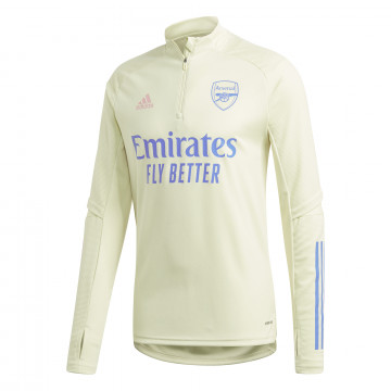 Sweat zippé Arsenal jaune 2020/21