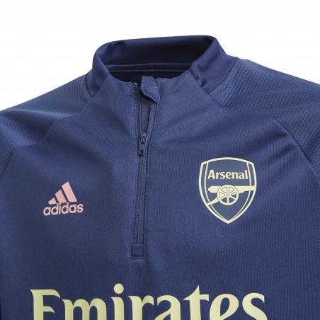 Sweat zippé junior Arsenal bleu 2020/21