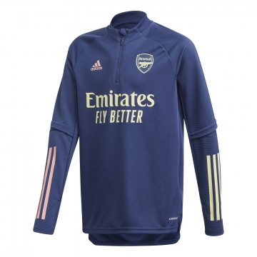 Sweat zippé junior Arsenal bleu 2020/21