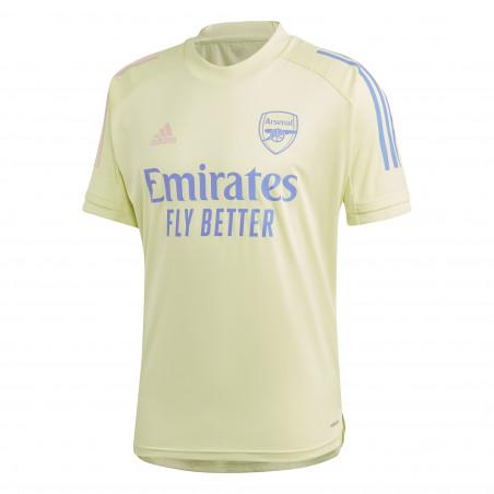 Maillot entraînement Arsenal jaune 2020/21
