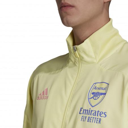 Veste entraînement Arsenal jaune 2020/21