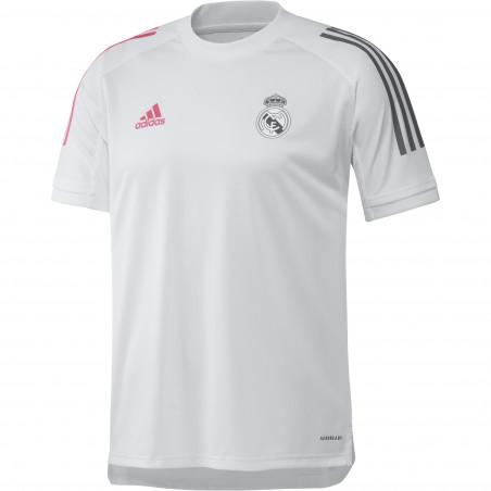 Maillot entraînement Real Madrid blanc rose 2020/21