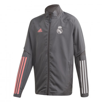 Veste survêtement junior Real Madrid gris rose 2020/21