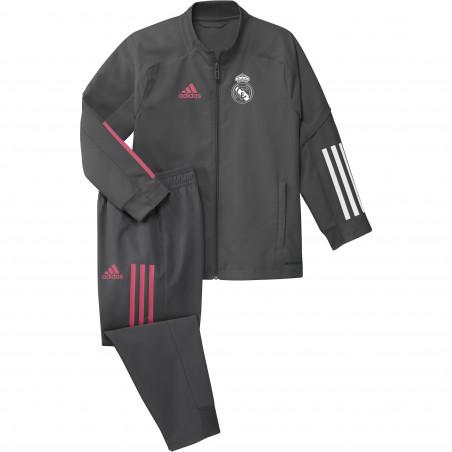 Ensemble survêtement enfant Real Madrid gris rose 2020/21