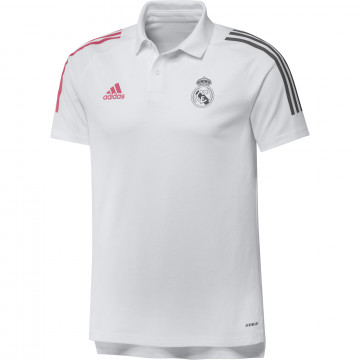 Polo Real Madrid blanc rose 2020/21