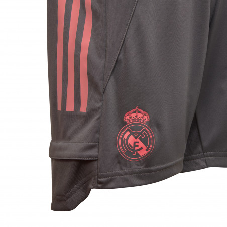 Short entraînement junior Real Madrid gris rose 2020/21