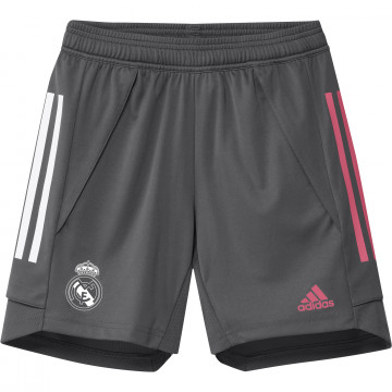 Short entraînement junior Real Madrid gris rose 2020/21