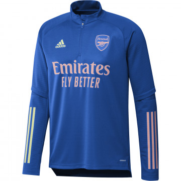 Sweat zippé Arsenal bleu rose 2020/21