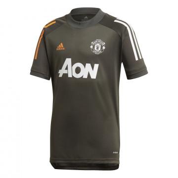 Maillot entraînement junior Manchester United vert orange 2020/21