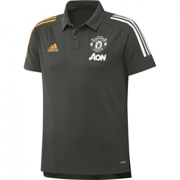 Polo Manchester United vert orange 2020/21