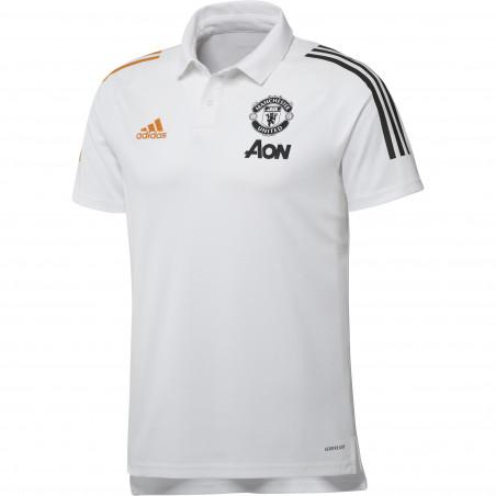 Polo Manchester United blanc orange 2020/21