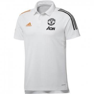 Polo Manchester United blanc orange 2020/21