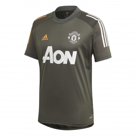 Maillot entraînement Manchester United vert orange 2020/21