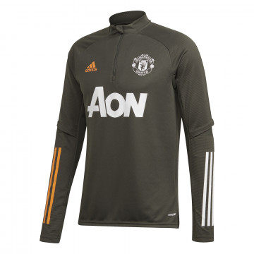 Sweat zippé Manchester United vert orange 2020/21