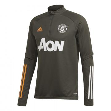 Sweat zippé Manchester United vert orange 2020/21