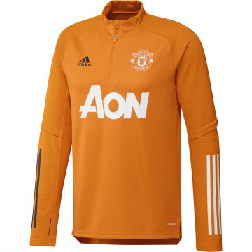 Sweat zippé Manchester United orange 2020/21