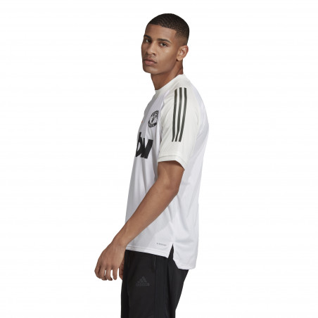 Maillot entraînement Manchester United blanc orange 2020/21