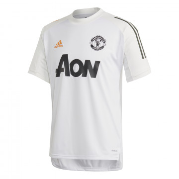 Maillot entraînement Manchester United blanc orange 2020/21