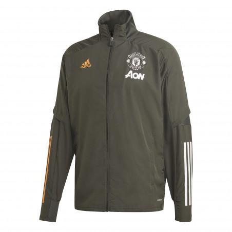 Veste entraînement Manchester United vert orange 2020/21