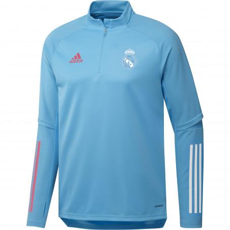 Sweat zippé Real Madrid bleu clair 2020/21