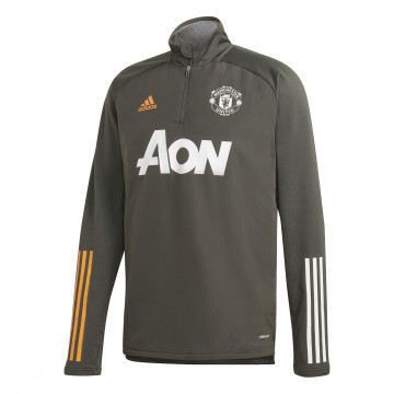 Sweat col montant Manchester United vert 2020/21