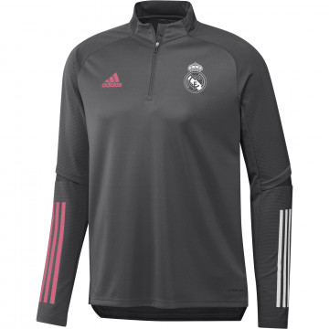 Sweat zippé Real Madrid gris rose 2020/21