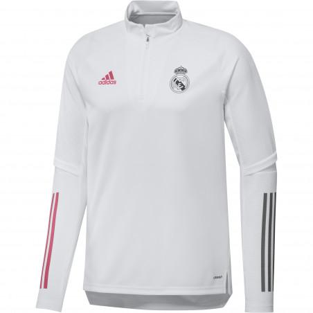 Sweat zippé Real Madrid blanc rose 2020/21