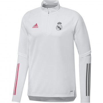 Sweat zippé Real Madrid blanc rose 2020/21