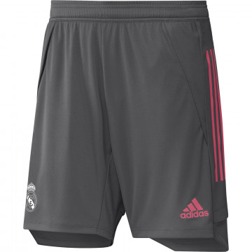 Short entraînement Real Madrid gris rose 2020/21