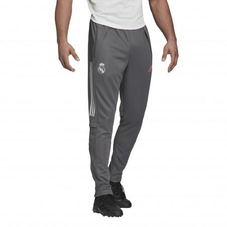 Pantalon survêtement Real Madrid gris rose 2020/21