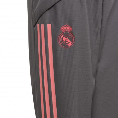 Pantalon entraînement junior Real Madrid gris rose 2020/21