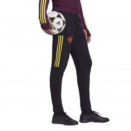 Pantalon survêtement Manchester United Europe noir jaune 2020/21