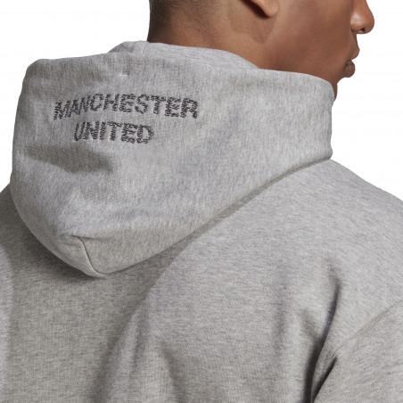 Sweat à capuche Manchester United gris 2020/21