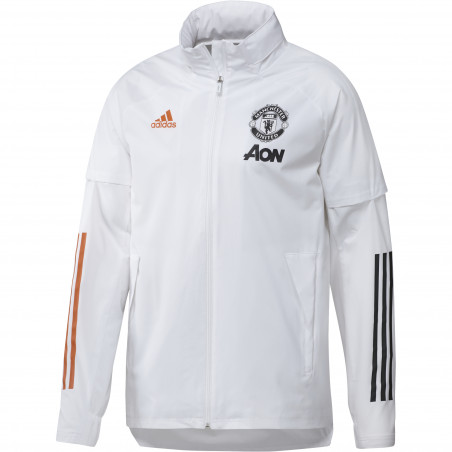 Coupe vent Manchester United blanc orange 2020/21