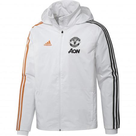 Manteau Manchester United blanc orange 2020/21